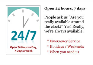 Open 24 Hours, 7 Days A Week